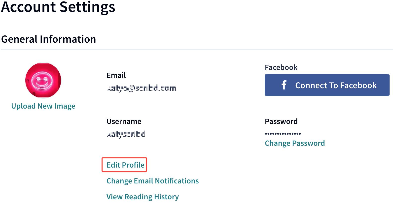 edit my fb profile